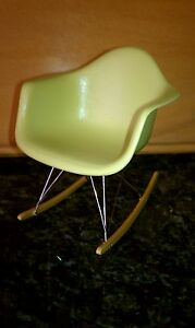details about 1 6 scale miniature vitra eames olive rar rocking chair