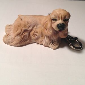 US-Cocker-Spaniel-Bld-Dog-Keychain-Christmas-Ornament-Hand-Made-Animal-Puppy