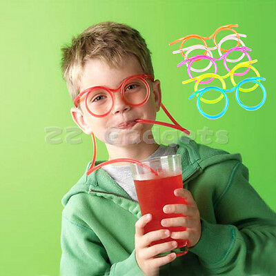Unique Flexible Novelty Soft Glasses Straw Glasses Drinking Tube Fun Drinking