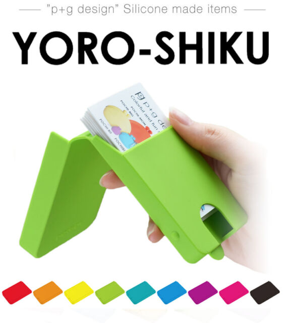 Auth. YOROSHIKU Silicone Card Case, Business, Credit Card Holder - POCHI series