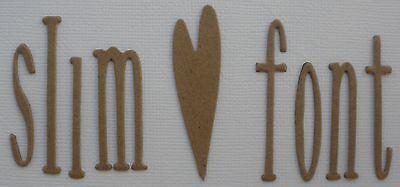 "2"" - SLIM FONT - Narrow Lowercase Alphabet Letters Chipboard Die Cuts - 54 Pc"
