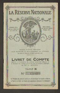 PARIS-VIII-EPARGNE-BON-DE-CAPITALISATION-034-LA-RESERVE-NATIONALE-034-Livret-1952