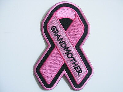 PINK RIBBON BREAST CANCER AWARENESS PATCH--GRANDMOTHER