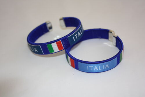 Italia Italy Flag Bracelet 2 Azzurri Italian World Cup FIFA Football Blue NEW