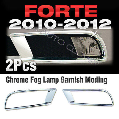 Chrome Fog Lamp Garnish Molding B617 For KIA CERATO FORTE Sedan 2010-2012