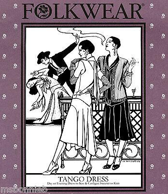 Folkwear Tango Dress Retro 1920s Day/Evening Wear Sewing Pattern #237 & Sweater