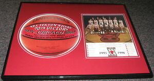 1995-Chicago-Bulls-Framed-16x20-Photo-Display-72-10-Team-Michael-Jordan