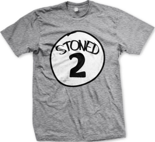 Stoned 2 Two Relax Smoking Buddy Weed Marijuana Party Weekend New Mens T-shirt