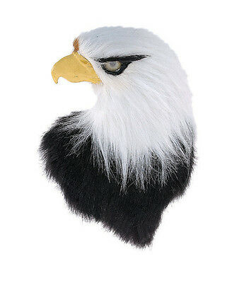 Bald Eagle Head Mount Furry Animal Replica Taxidermy Indian Hanger Taxidermy