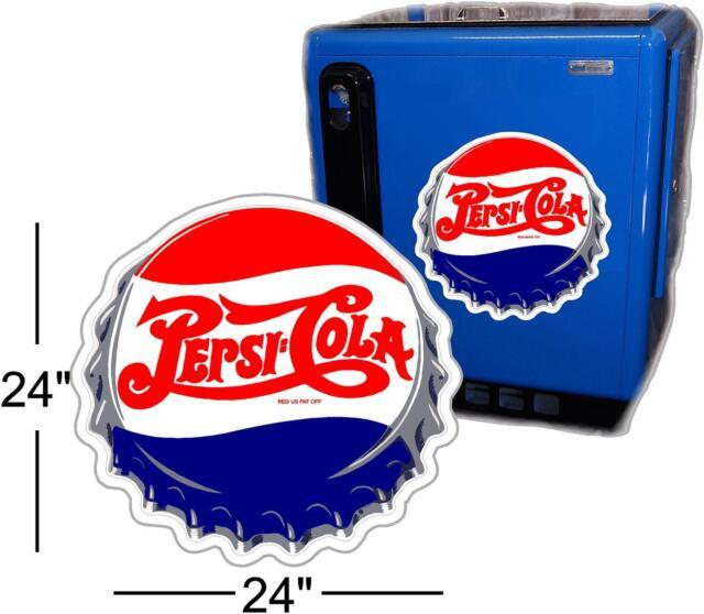 "24""  PEPSI CAP FOR SODA POP VENDING MACHINE COOLER OR SIGN"