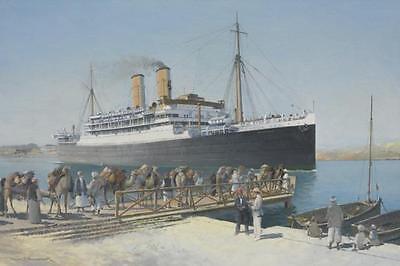 "SS Oronsay Ocean Liner Marine Painting Art Print - 14"" Print"