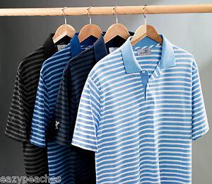 ASHWORTH-Golf-Mens-S-2XL-3XL-4XL-Dual-Tone-Golfman-Pique-Stripe-POLO-Shirts-75
