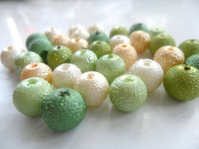 Glass Pearl Beads Textured/ Moon Surface - Choose Colour - 4mm,6mm & 8mm