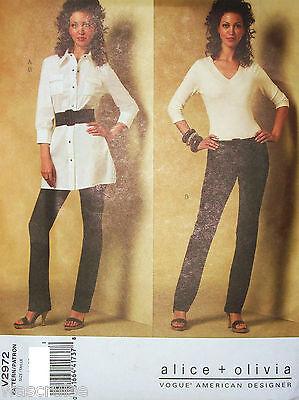 Ms MP Vogue V2972 2972 Sewing Pattern Alice + Olivia Tunic & Pants Size 4-6-8-10