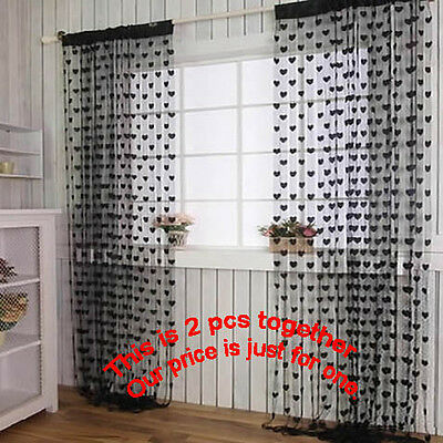 Heart Shape Panel Line Curtain-Drape For Door/Partition/Wall decoration DT495