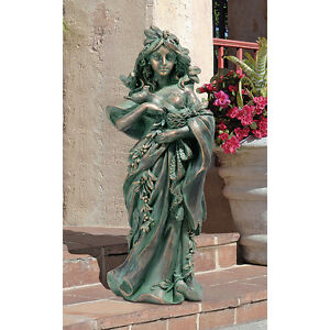 Personification Of Gaia Mother Nature Three Doves Of Peace Garden Earth Statue Ebay
