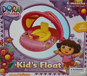 Nickelodeon-Dora-the-Explorer-Kids-Pool-Float-with-Canopy-30X27-Ages-6-mos-NIB