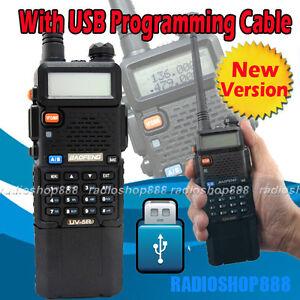 BAOFENG-Dual-band-model-UV-5R-II-VHF-UHF-Dual-Band-Radio-NEW-VERSION-USB-cable