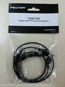 Peltor-SportTac-tamt06-Microfono-e-dritto-connettore-con-PTT-per-Icom-NUOVO