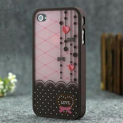 Fashion cute lovely Hard Cover Skin case for iPhone 4 4G 4S+Free Screen Protect