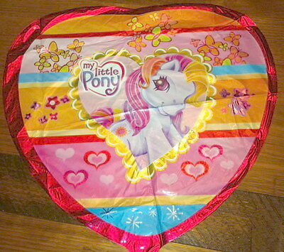 MY LITTLE PONY BALLOON - heart shaped - 45cms (orange)
