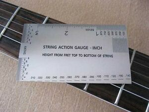 string action gauge in inches guitar measuring tool luthier tool ebay. Black Bedroom Furniture Sets. Home Design Ideas