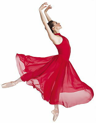 Elegant Bodywrappers Long Mock Turtle Neck Lyrical Dress Dance Costume