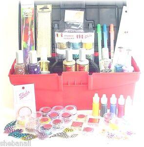 master acrylic gel nail art kit sheba nails glitter polish