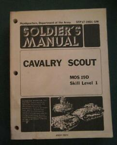 JULY-1981-ARMY-SOLDIER-039-S-MANUAL-CAVALRY-SCOUT-MOS-19D-SKILL-LEVEL-1-MILITARY