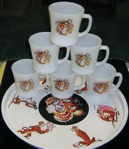 Fire King Vtg. Promotional Esso Exxon Tony The Tiger Tray ...
