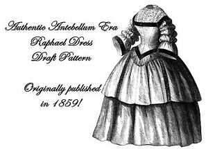 Antebellum-Civil-War-Ladys-Dress-Draft-Pattern-1859