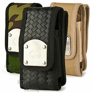 Naztech Belt Gladiator Canvas Tough Pouch Clip Holster Cover Case For LG Rebel 2