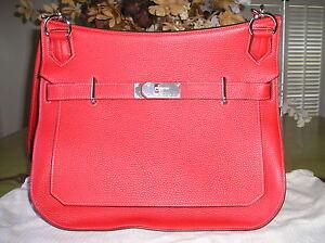 Auth-HERMES-2012-Red-Pink-Jypsiere-Gypsy-2-Tone-34cm-Birkin-Messenger-Bag-NEW