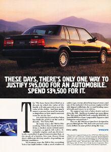 1992-Volvo-960-Sedan-34500-Classic-Vintage-Advertisement-Ad-H09