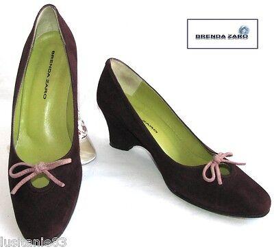 brenda zaro Schuhe Keilabsätze Vollleder bordeaux 37.5 hervorragender Zustand