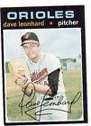 1971 Topps Dave Leonhard Baltimore Orioles #716 Baseball Card