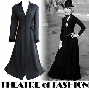 LAURA-ASHLEY-COAT-DRESS-18-16-44-42-14-12-VINTAGE-VICTORIAN-RIDING-40s-30s-MAXI