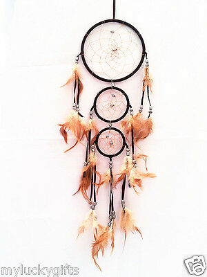 """Dreamcatcher with feather wall hanging decoration ornament-27"""" Long"""