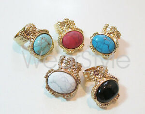New-Europe-Style-Big-Stone-Gold-Tone-Ring-More-Colors-Fashion-JW100