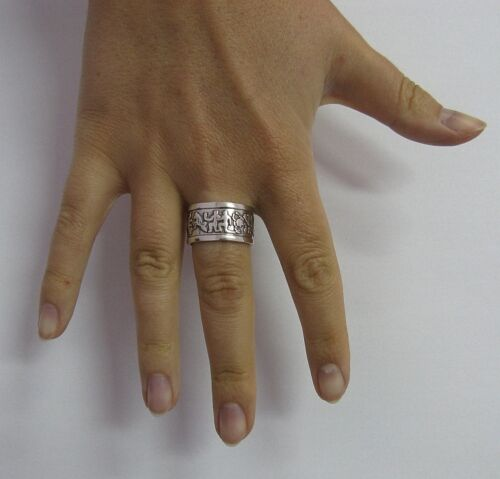 Sterling Silver Ring Solid 925 Zodiac Band Taille 6-12 Empress R001219