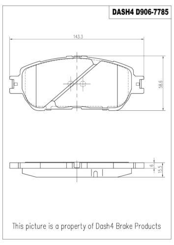 D906 Disc Brake Pad-Semi Metallic Pads Front Brake Set D906