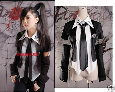 Japan Unisex Kera Shop Visual Punk Gothic shirt Top+tie+arm warmer y242 S~XL