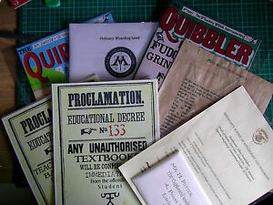 VARIOUS-HARRY-POTTER-PROPS-PROCLAMATIONS-QUIBBLER-MAG-COVER-039-OWLS-039-EXAMS