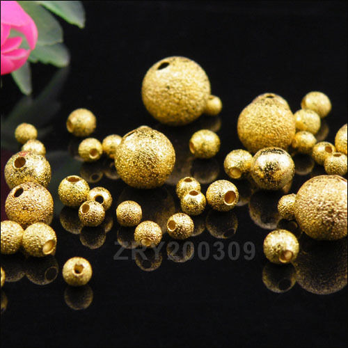 Gold Plated Copper Round Spacer Beads 3mm,4mm,6mm,8mm,10mm R0164