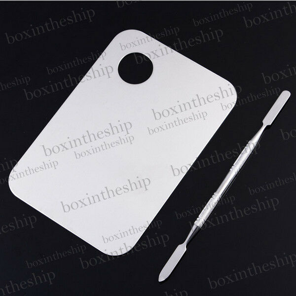 Pro High Quality Stainless Steel Cosmetic Makeup Palette Spatula Tool NEW