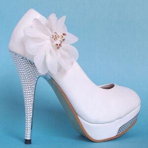 white party queen glitter high heel platform lace flower