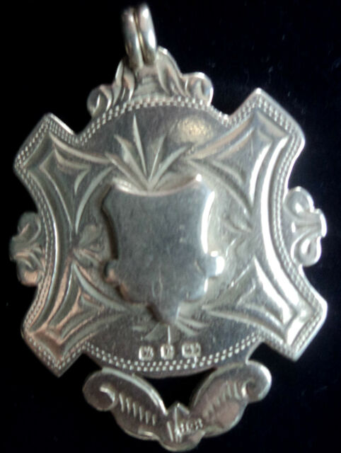 LARGE Silver Medal / Fob / Pendant - Herbert Bushell 1898 -  not engraved