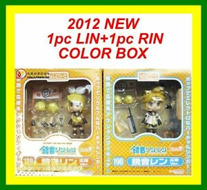 2PCS-VOCALOID-Nendoroid-KAGAMINE-LEN-RIN-cheerful-cheer-leader-anime-Figure-Gift
