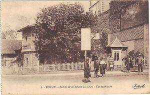 63-cpa-ROYAT-Entree-de-la-Grotte-au-chien