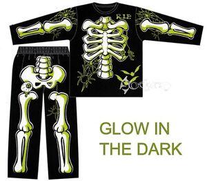 Boys-Skeleton-Halloween-Glow-in-the-Dark-Long-Pyjamas-Ages-3-12-Years